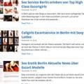 Escortservice Berlin Blog für Sexkontakte mit geilen Escort Huren