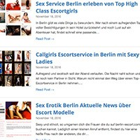 Escort Service Berlin Blog For Sex Contacts With Horny Escort Whores